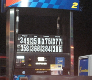 Gas pump in Bordentown