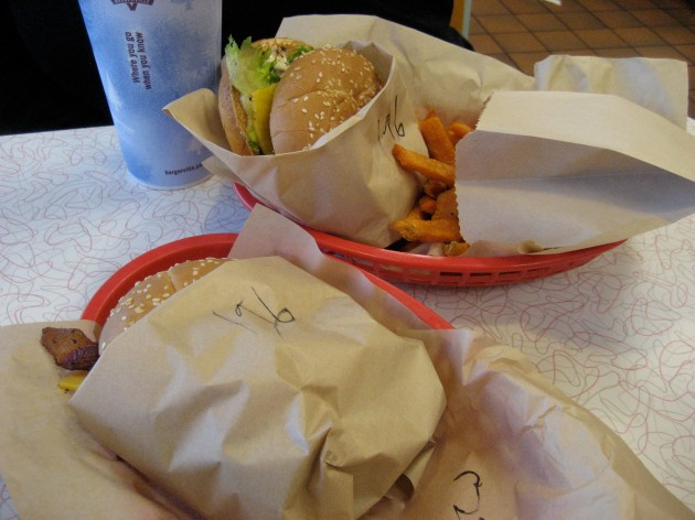 our Burgerville lunch