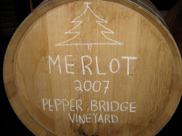 2007 barrel of wine