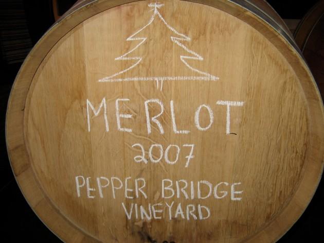 2007 barrel of wine
