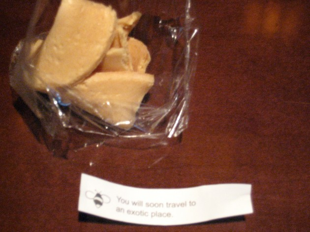 Fortune cookie from the land of the obvious and ironic