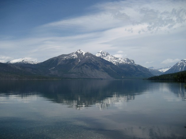 Mountains behind Lake McDonald