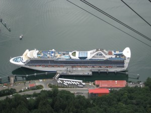 The Golden Princess at her berth