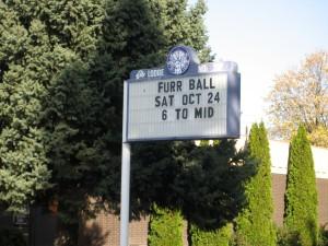 Furr Ball sign