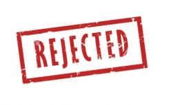 stamp of rejection
