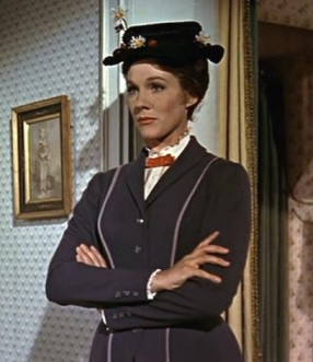 Mary Poppins looking stern