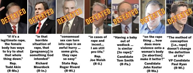 list of GOP men who were voted down yesterday after saying stupid stuff about rape and abortion