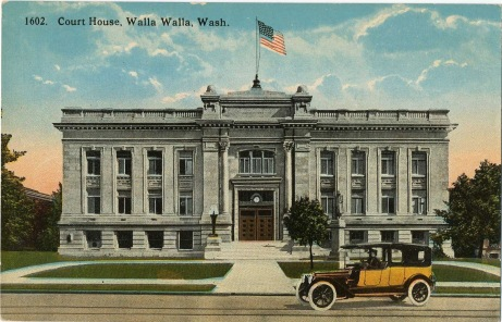 Walla Walla courthouse in the 1920s: postcard