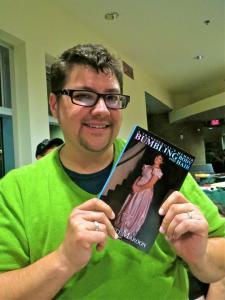 Ev holding his memoir